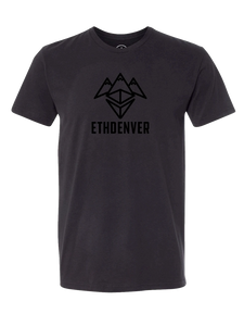 ETHDenver Black Logo Shirt - Men's Cut [2020]