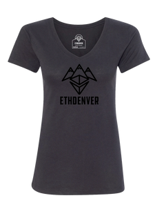 ETHDenver Black Logo Shirt - Women's Cut [2020]