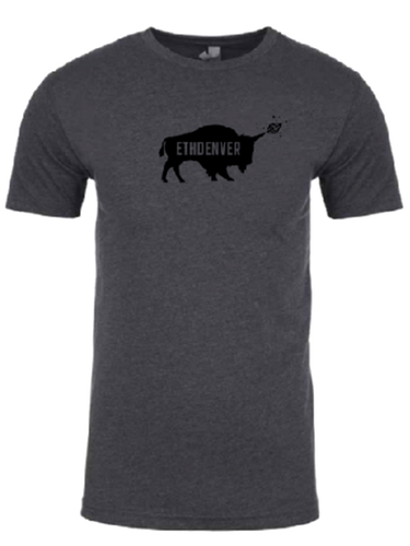 ETHDenver Grey Bufficorn Shadow Shirt [2019]