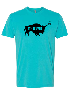 ETHDenver Teal Bufficorn Shadow Shirt [2019]