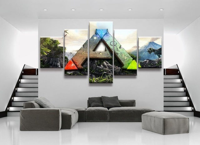 Ark Survival Evolved Wall Art Canvas Print Decor Delightedstore