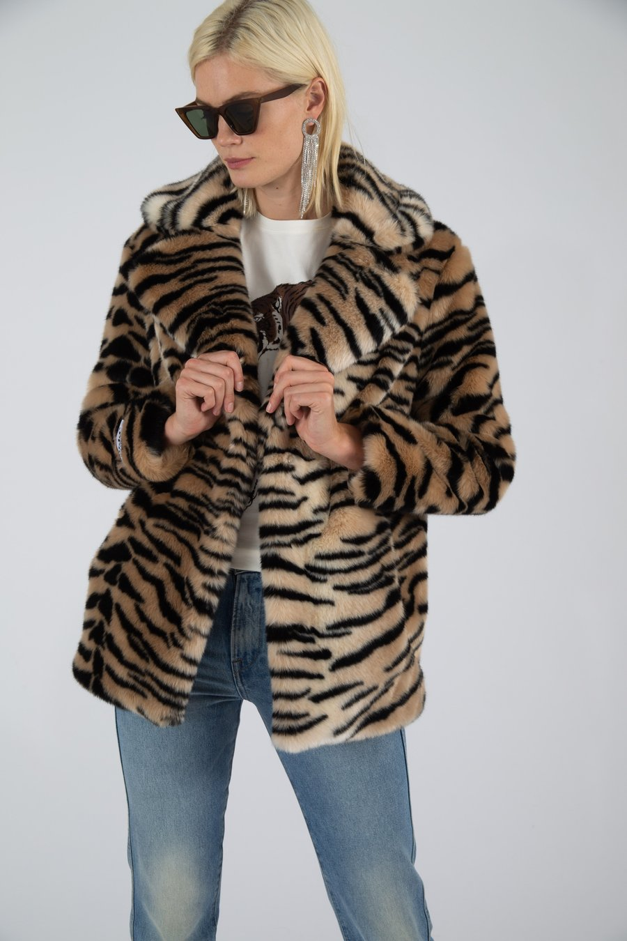 Heather Natural Tiger Jacket