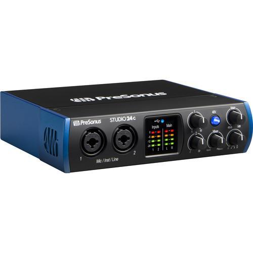 PreSonus Studio 24c 2x2 USB Type-C Audio/MIDI Interface
