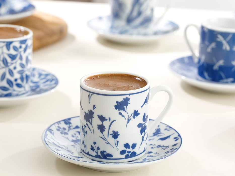 English Home Bella Porcelain 6-Piece Coffee Cup Set 80 ml