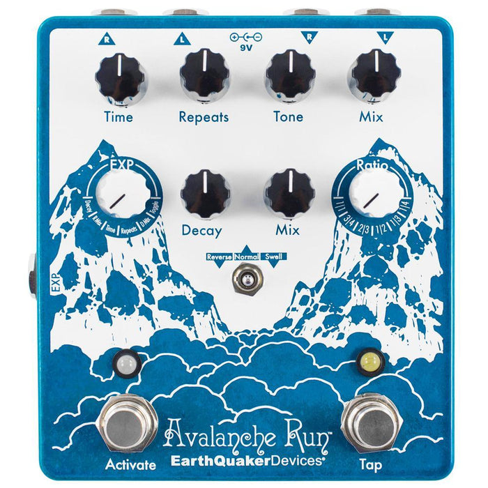 Earthquaker Avalanche Run Stereo Delay and Reverb w/ Tap Tempo