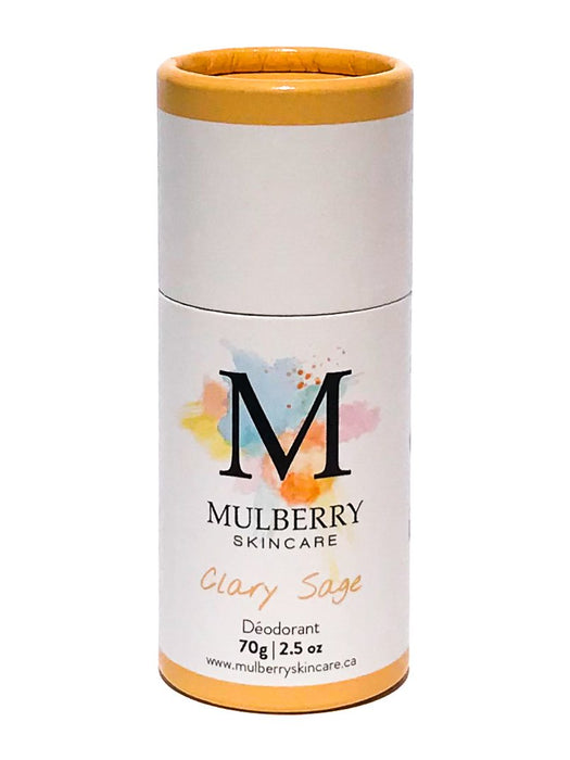 all natural deodorant - clary sage | mulberry skincare