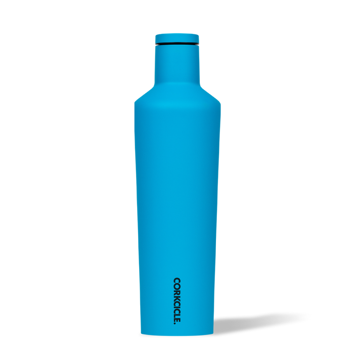 Corkcicle 25oz. Canteen Water Bottle | Neon Blue