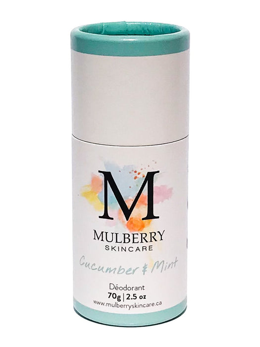 all natural deodorant - cucumber & mint | mulberry skincare