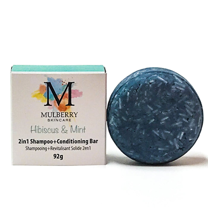 2-in-1 solid shampoo + conditioner bar | hibiscus & mint
