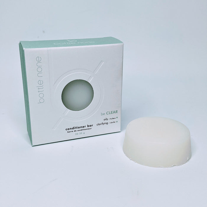 be CLEAR deep clean/oily scalp vegan conditioner bar
