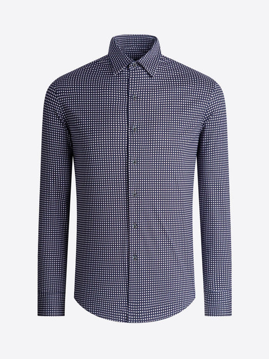Bugatchi Performance Pin Check Cotton Shirt