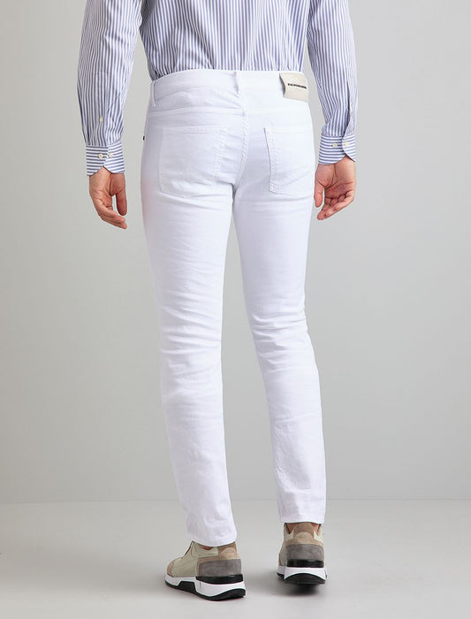 Baldessarini White Left Hand Twill Denim