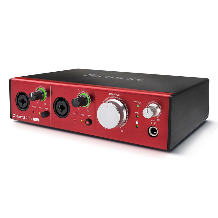 Focusrite Clarett 2Pre USB Audio Interface for PC and Mac 10-In / 4-Out