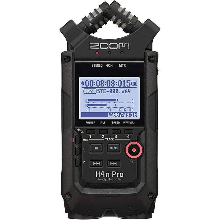 Zoom H4n Pro All-Black Handy Recorder Portable Pocket Recording Device