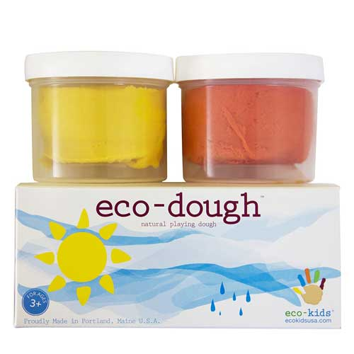 natural eco-dough homemade playdough
