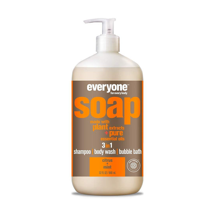 3 in 1 shampoo/body wash/bubble bath - citrus + mint