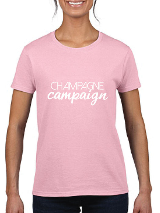 Champagne Campaign Ladies T-Shirt