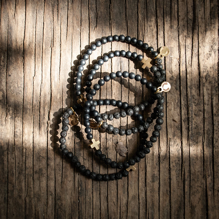 Des Croix Bracelets- Black on Black