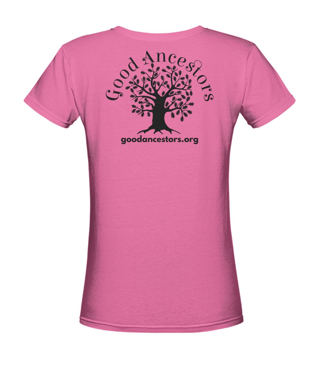 Good Ancestors Women's V-Neck Tee - Lt