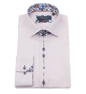 Guide London Placket Trim Shirt Pink