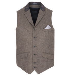 Guide London Lapel Waistcoat Light Brown