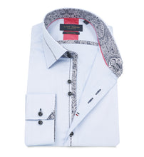 Load image into Gallery viewer, Guide London Collar and Placket Trim Shirt Sky Blue