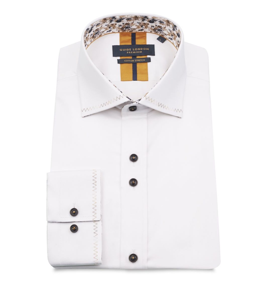 Guide London Stitch Trim Shirt White