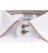 Load image into Gallery viewer, Guide London Collar and Cuff Trim Shirt White