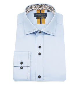 Guide London Stitch Trim Shirt Sky