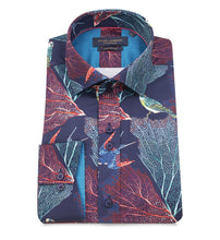 Load image into Gallery viewer, Guide London Leaf Parrot Print Shirt Navy