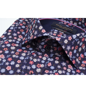 Guide London Pink and Blue Floral Shirt