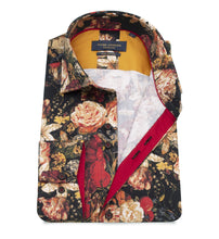 Load image into Gallery viewer, Guide London Deep Floral Print Shirt Burgundy