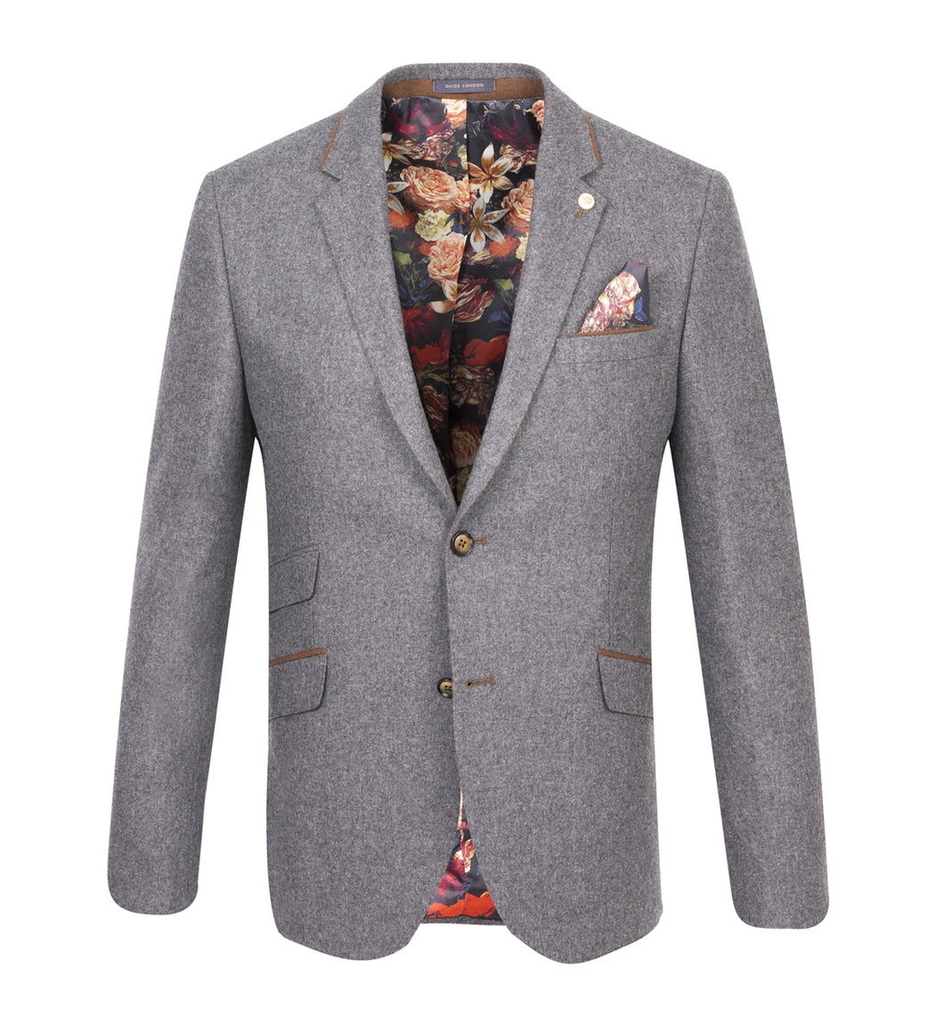 Guide London Wool Blazer Grey