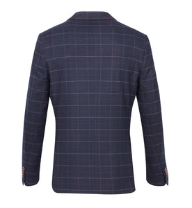 Guide London Checked Jacket Navy Blue