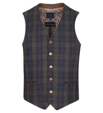 Load image into Gallery viewer, Guide London Navy Check Waistcoat