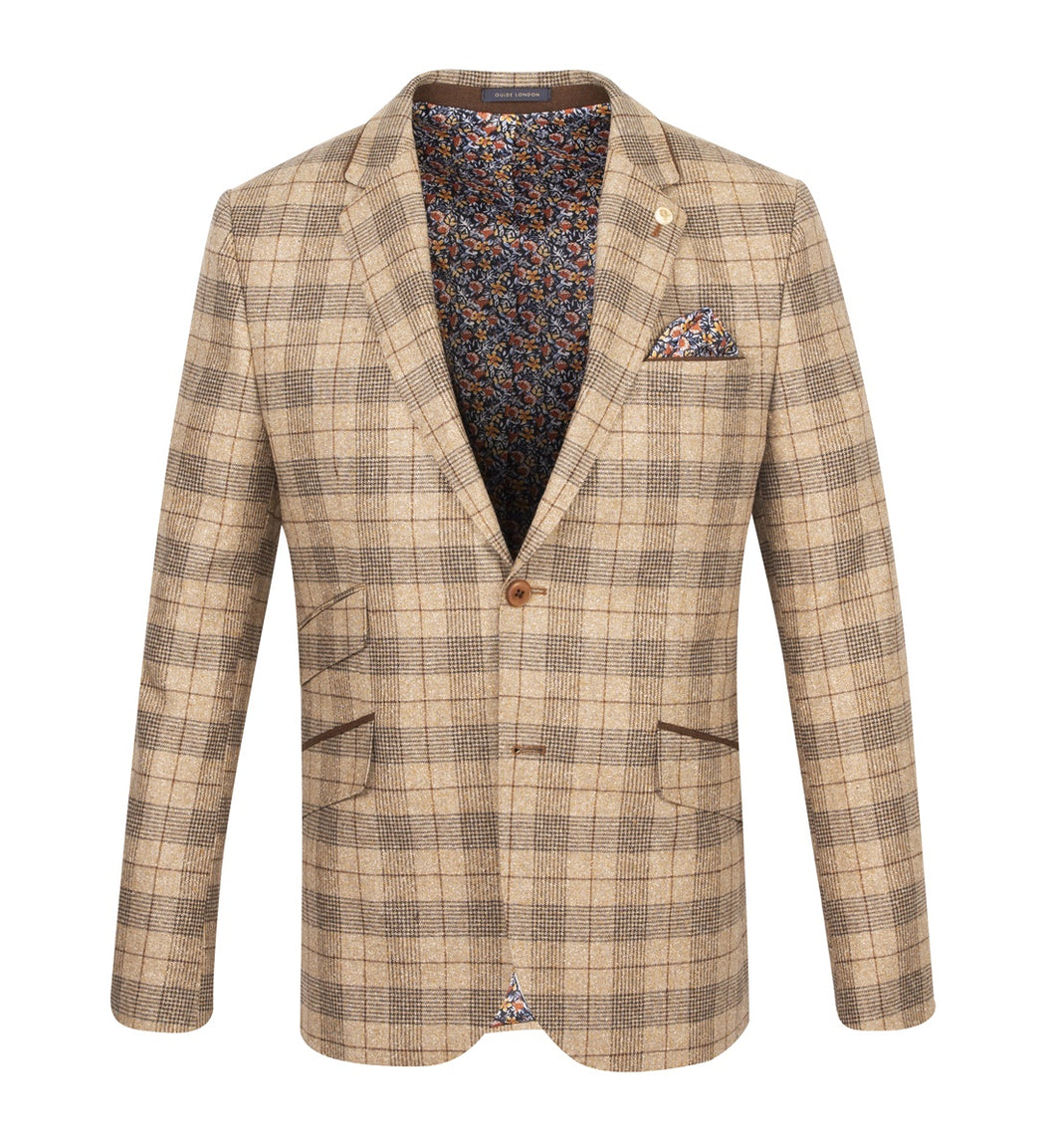 Guide London Light Tan Check Jacket