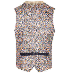 Guide London Light Tan Check Waistcoat