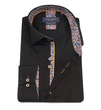 Load image into Gallery viewer, Guide London Floral Trim Shirt Black