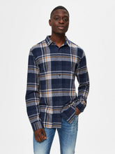 Load image into Gallery viewer, Selected Homme Gunnar Check Shirt Blue