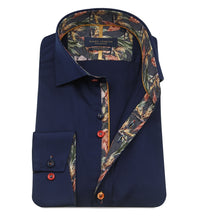 Load image into Gallery viewer, Guide London Multicolour Button Shirt Navy