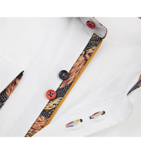 Load image into Gallery viewer, Guide London Multicolour Button Shirt White