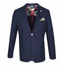 Load image into Gallery viewer, Guide London Navy Blazer with Fushia Trim
