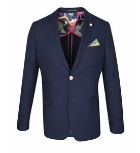 Guide London Navy Blazer with Fushia Trim