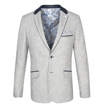 Load image into Gallery viewer, Guide London Grey Jacket with Navy Trim
