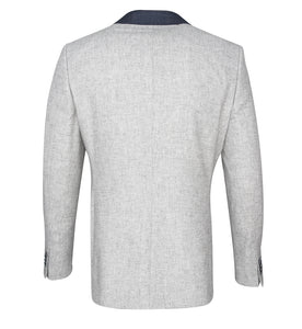 Guide London Grey Jacket with Navy Trim
