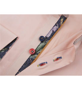 Guide London Multicolour Button Shirt Peach (LS75490)