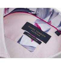 Load image into Gallery viewer, Guide London Plain Tailored Shirt Pink (LS75487)