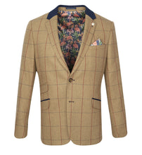 Load image into Gallery viewer, Guide London Checked Herringbone Jacket Tan (JK3367)