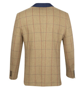 Guide London Checked Herringbone Jacket Tan (JK3367)
