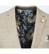 Load image into Gallery viewer, Guide London Plain Linen Mix Jacket Sand (JK3376)